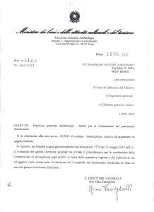 La risposta del dott. Gino Famiglietti, Direzione Generale per l'Archeologia del Mibact, ai rilievi presentati da Archim in merito alla sistemazione del patrimonio documentale dell'istituzione